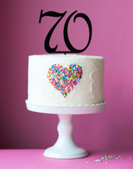 Number 70 cake topper - 70th birthday cake decoration - Laser cut - Made in Australia