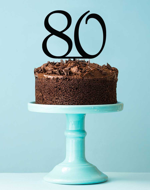 Number 80 cake topper - 80th birthday cake decoration - Laser cut - Made in Australia