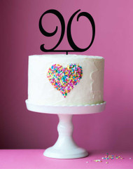 Number 90 cake topper - 90th birthday cake decoration - Laser cut - Made in Australia