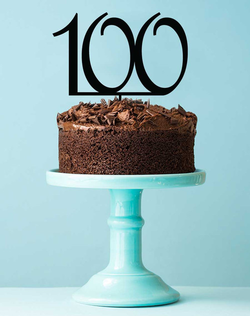 Number 100 cake topper - 100th birthday cake decoration - Laser cut - Made in Australia