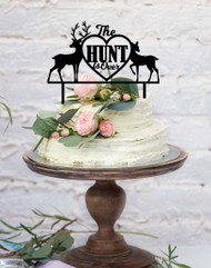 The Hunt is Over Deer Wedding Cake Topper - Deer and Stag Wedding Cake Decoration laser cut in Australia