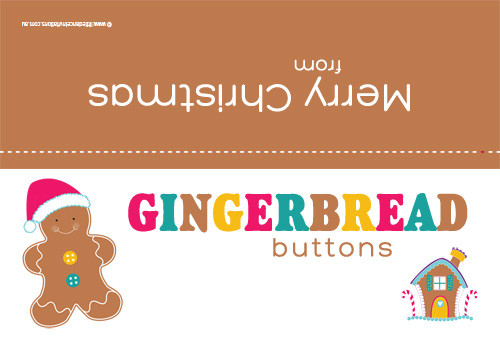 Fun, novelty Christmas favor bag or lolly bag toppers - Gingerbread Man theme