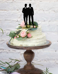 Two Groomsmen Same Sex Gay Wedding Cake Topper