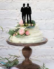 Two Groomsmen Same Sex Gay Wedding Cake Topper