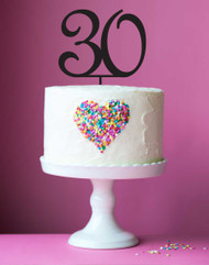 30 Birthday cake number