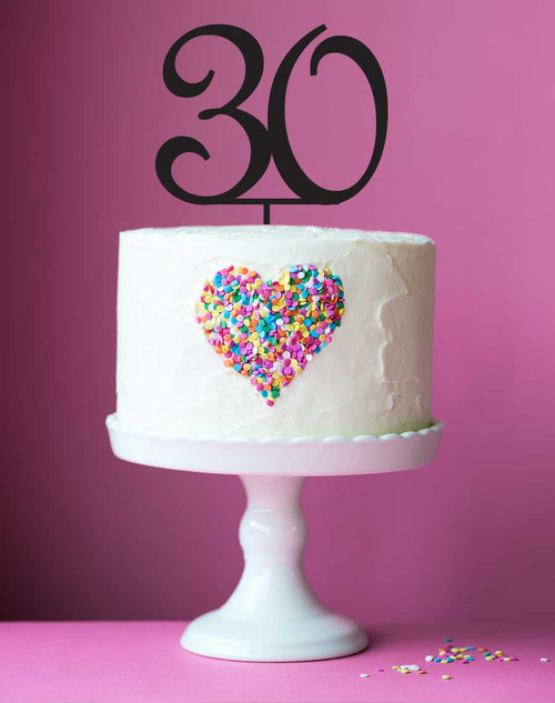 Number 30 cake topper - 30th birthday cake decoration - Laser cut - Made in Australia