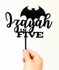 Batman name & age cake topper - Personalised Batman cake decoration