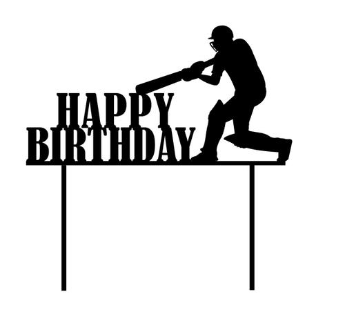 Cricket Happy Birthday Cake Topper