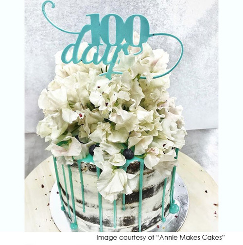 100 days cake topper, photo courtesy of Annie Makes Cakes