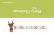 Christmas themed party gift bag toppers - Rudolph reindeer noses. Order online