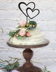 Double Hearts Cake Topper