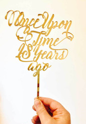 Once Upon a Time Cake Topper