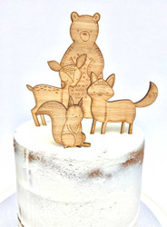 Woodlands animals themed Cake decorator kit - Laser cut cake decorations made in Australia