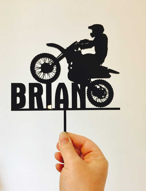 Dirt Bike, Motorbike  Birthday Cake Topper