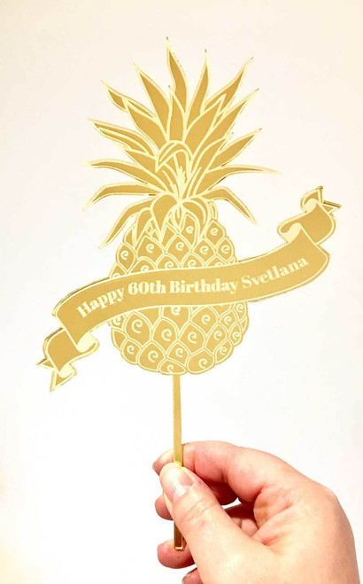 Tropical Pineapple cake topper. Made in Melbourne Australia
