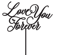 Love You Forever Cake Topper