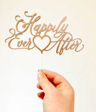 Happily Ever After Cake Topper Saying Wedding or Engagement Cake Topper Laser Cut in Australia