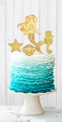 Mermaid Cake decorator kit - Laser Cut Cake Decorations made in Australia