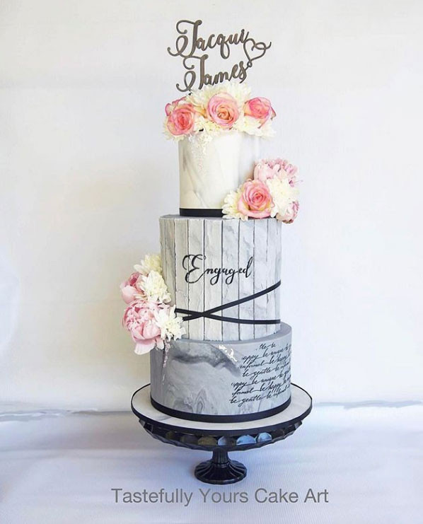 Personalised Wedding Cake Topper Two Names Joined By A Heart