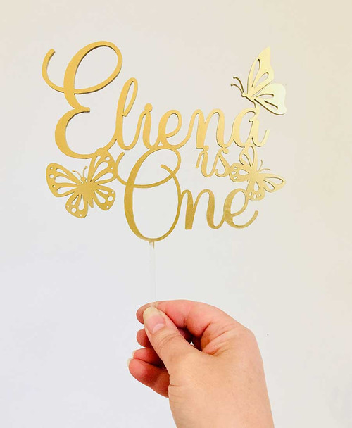 Butterfly personalised Cake Topper
