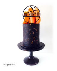 Basketball Cake Topper - Cake by Sugadust
