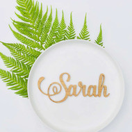 Lasercut bamboo wood table setting name cards / placecards / escort cards