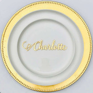 Lasercut gold mirror table setting name cards / placecards / escort cards