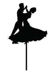 Ballroom dancing cake topper