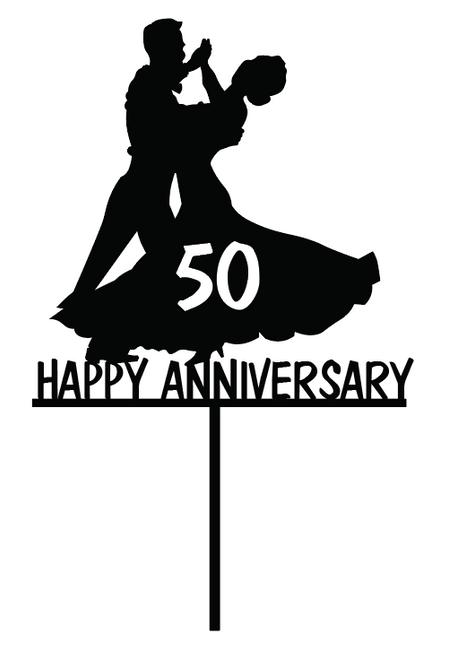 Anniversary Ballroom Dancing Couple cake topper