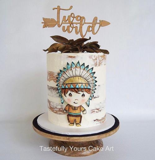 Two Wild arrow cake topper