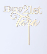Personalised Acrylic Cake Topper Ballerina Theme With Age