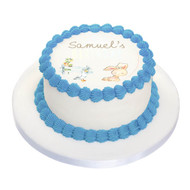 Farm Animals Birthday Cake personalised edible icing