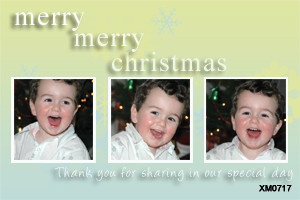 Aussie Christmas card made with three photos