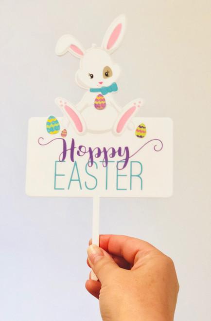 Hoppy Easter acrylic Cake Topper