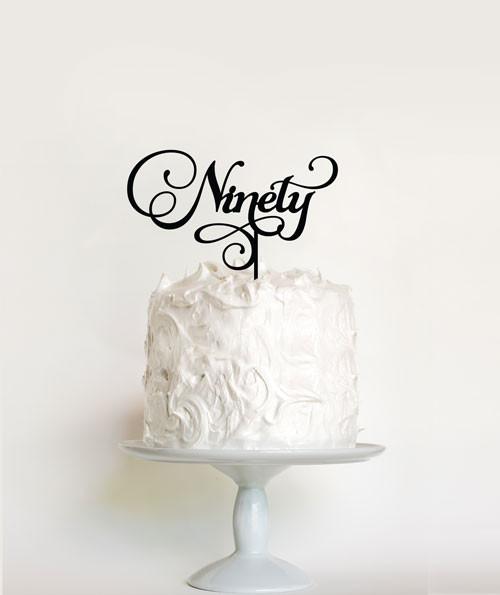 Fabulous 90Th Birthday Cake Toppers Ninetieth Birthday Cake Decorations Personalised Birthday Cards Petedlily Jamesorg