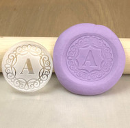 Monogram Cookie and fondant stamp