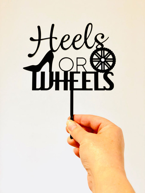 Heels or Wheels Baby Gender Reveal Cake Topper