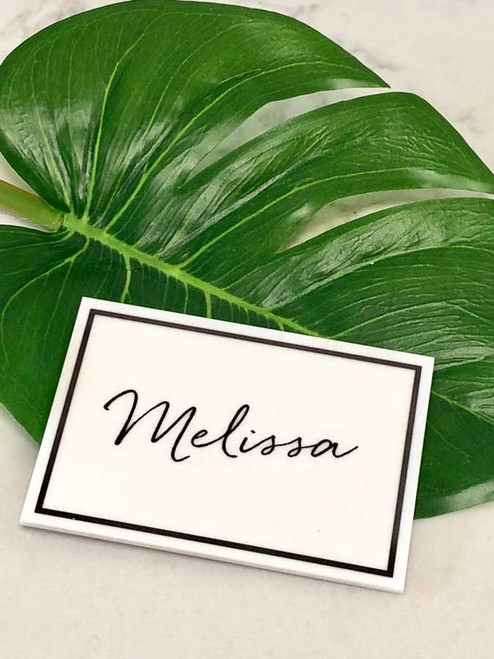 Wedding personalised acrylic place cards