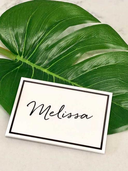 Wedding personalised acrylic place cards