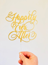Happily Ever After Wedding Cake Toppers Fairytale  Romance Wedding or Engagement Cake Topper Laser Cut in Australia