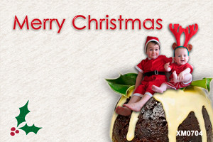Christmas pudding is the theme of this Christmas Card
