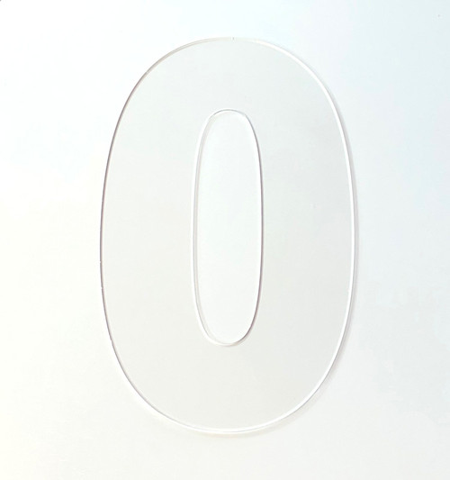 Acrylic Laser cut numbers for Cookie Cakes