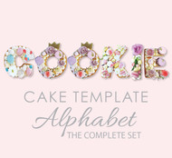 Alphabet Set - Cookie Cake Templates - All letters A to Z - The whole alphabet laser cut letters
