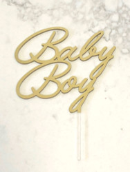 Baby Boy Baby Shower cake topper