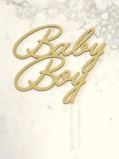 Baby Boy Baby Shower cake topper