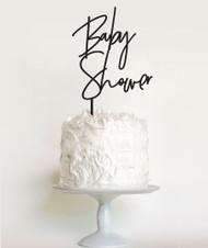 Modern font baby shower cake topper
