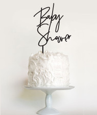 Modern font baby shower cake topper or baby shower cake decoration. Australian made