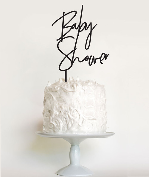 Modern font baby shower cake topper or baby shower cake decoration. Australian made