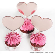 Little heart cupcake toppers - Romantic Little Hearts Cupcake Toppers - Love Heart Dessert Cake Toppers