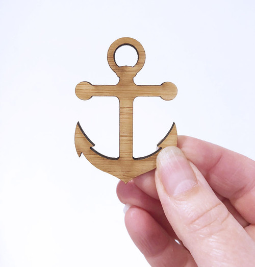 Anchor shape gift tags